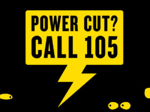 A new number to call if you have a power cut – call 105