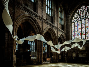 Chester Cathedral welcomes large-scale paper sculpture installation for Easter