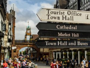International visitors receive a friendly welcome in Chester