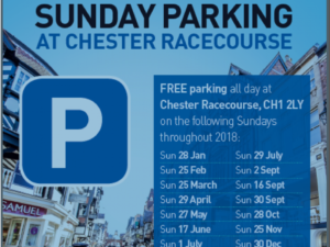 Free parking at Chester Racecourse to return for 2018