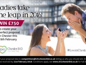 Pssst!….Ladies WIN your perfect proposal in Chester