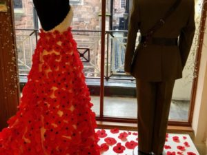 Brides of Chester pay tribute to 100 years Remembrance with poignant window display