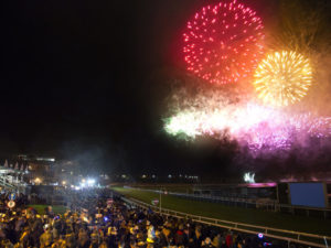 Thousands enjoy the Fireworks at Chester Racecourse