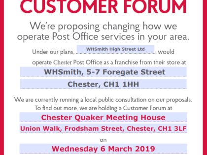 Local Public Consultation for Post Office location change